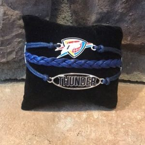 NBA Oklahoma City Thunder Braided Bracelet